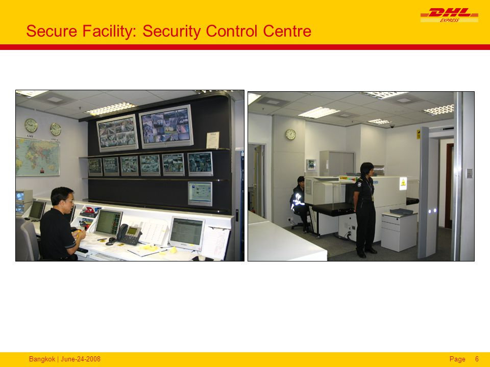 Bangkok | June-24-2008Page6 Secure Facility: Security Control Centre