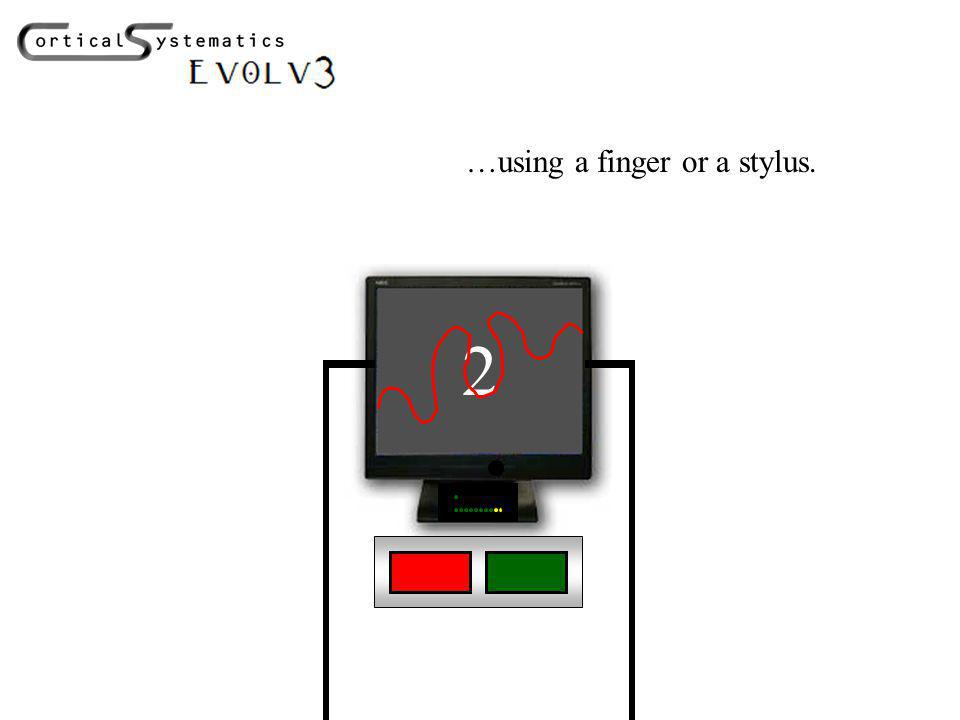 2 …using a finger or a stylus.