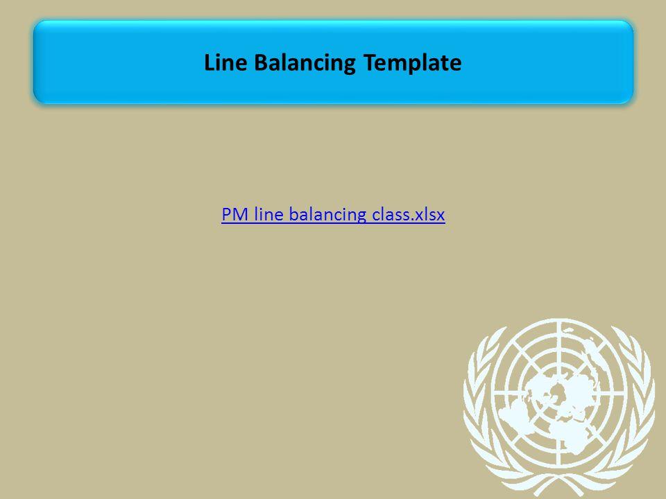 PM line balancing class.xlsx Line Balancing Template