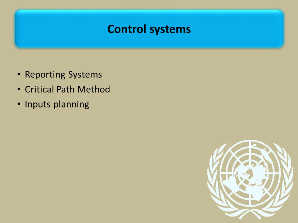 Reporting Systems Critical Path Method Inputs planning Control systems