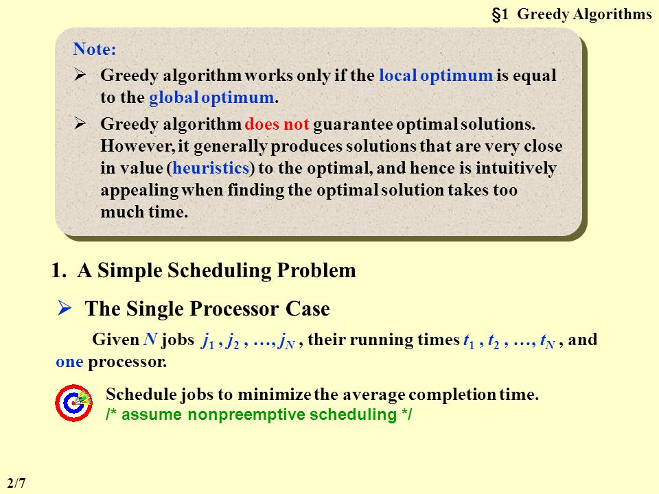 CHAPTER 10 ALGORITHM DESIGN TECHNIQUES §1 Greedy Algorithms Optimization Problems: Given a set of constrains and an optimization function. Solutions t