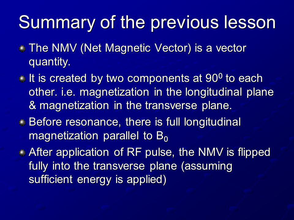 There is now full transverse magnetization and zero longitudinal magnetization.