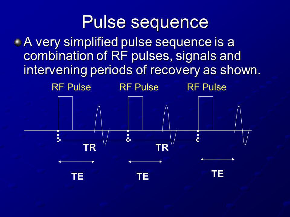 A pulse sequence consists of several components.1.