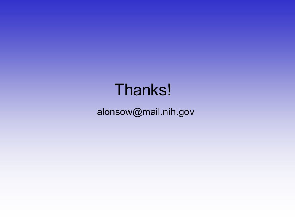Thanks! alonsow@mail.nih.gov