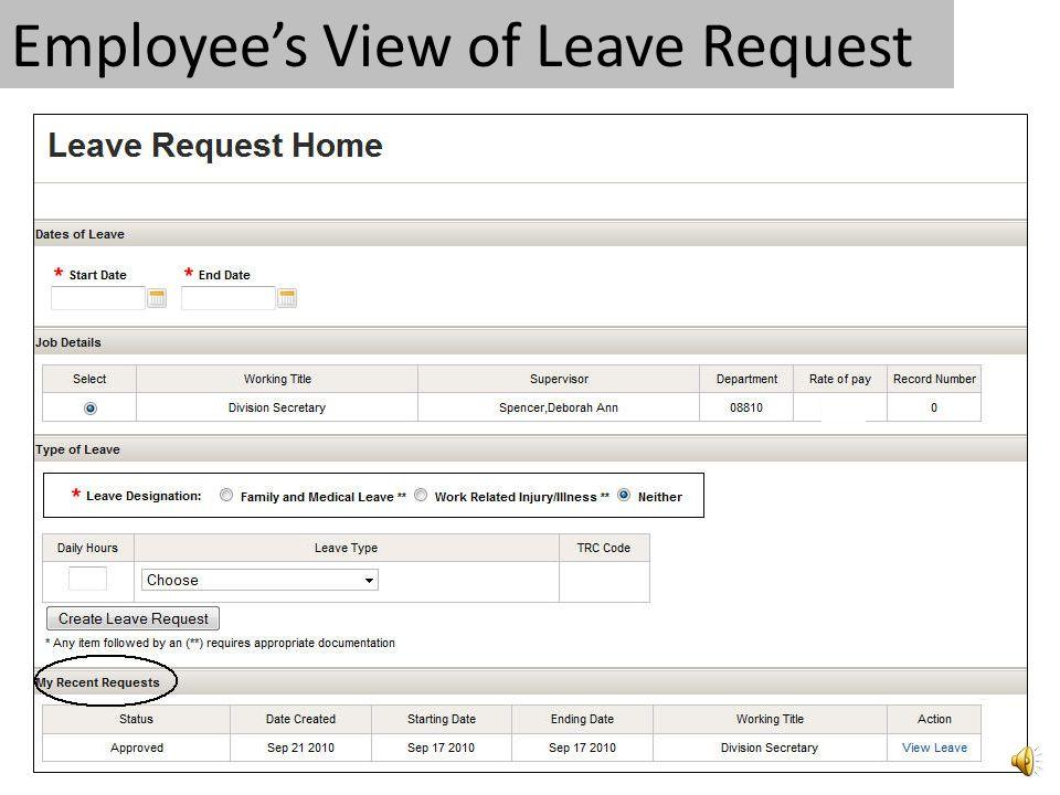 Supervisor Approves Leave