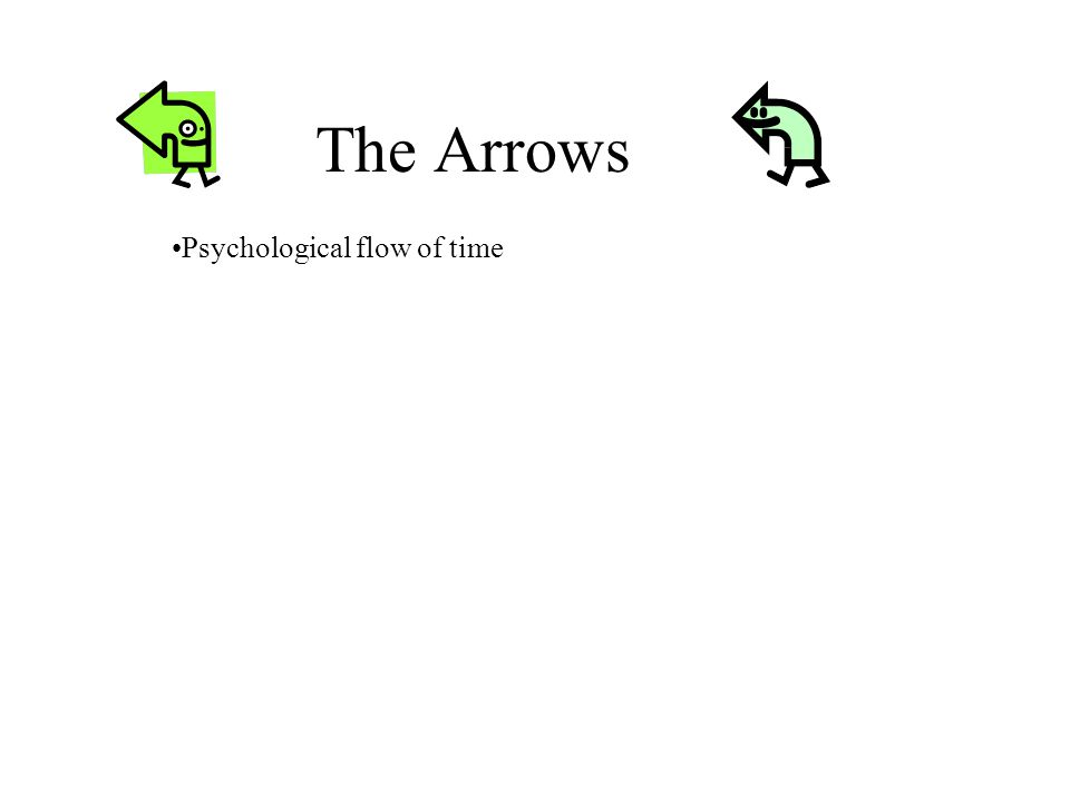 The Arrows Psychological flow of time