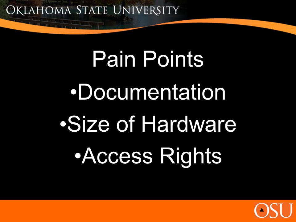 Pain Points Documentation Size of Hardware Access Rights
