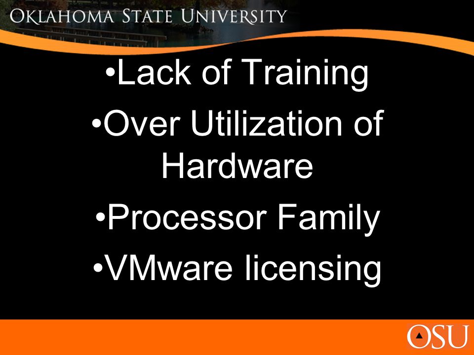 Lack of Training Over Utilization of Hardware Processor Family VMware licensing