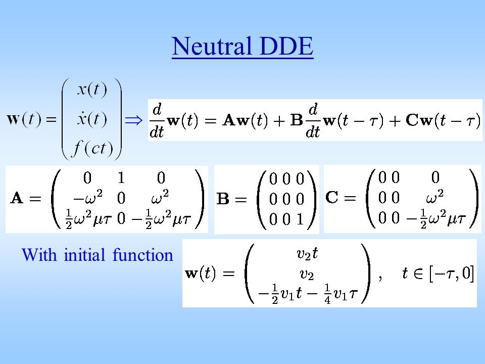 Neutral DDE With initial function