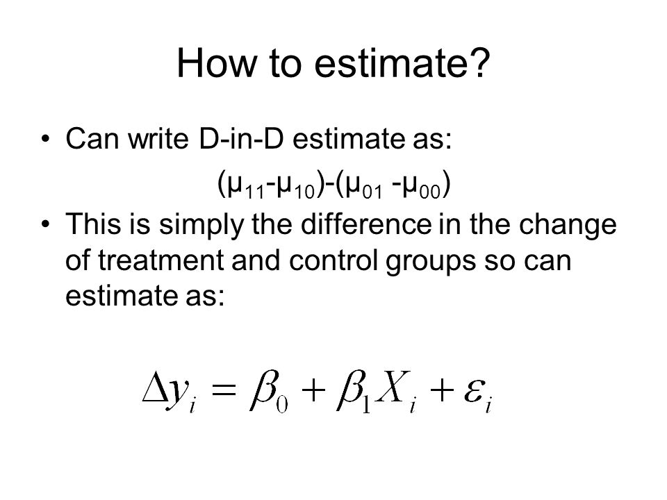 How to estimate.