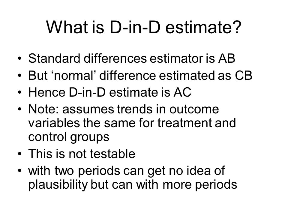 What is D-in-D estimate.