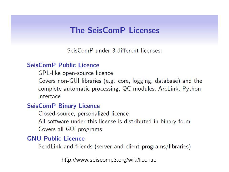 http://www.seiscomp3.org/wiki/license