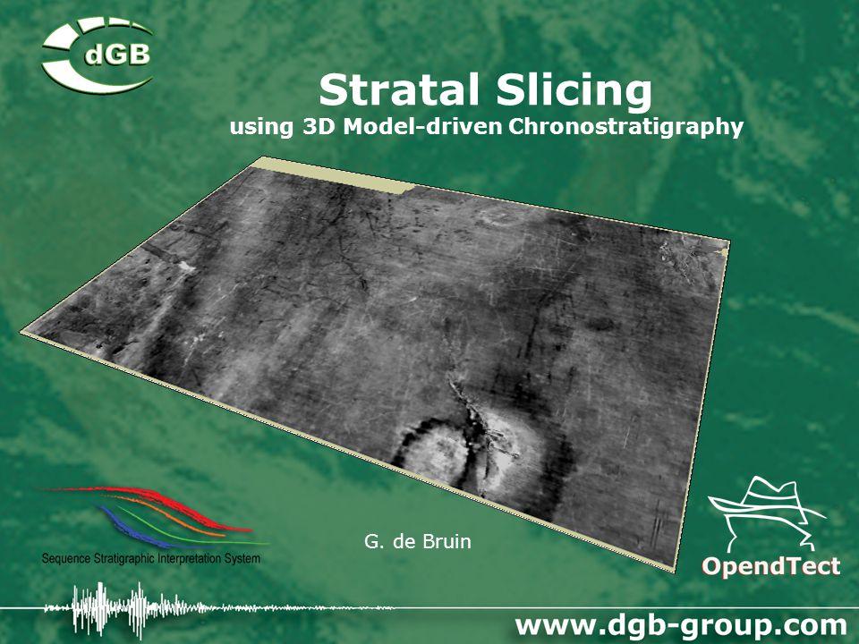 Stratal Slicing using 3D Model-driven Chronostratigraphy G. de Bruin