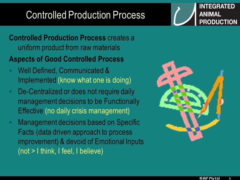 © IAP Pty Ltd 20 Ingredients - Quality & Number Ingredient Quality (e.g.