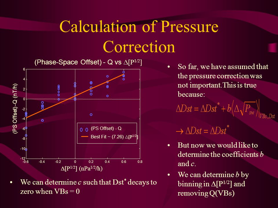 Calculation of Pressure Correction So far, we have assumed that the pressure correction was not important.This is true because: But now we would like to determine the coefficients b and c.