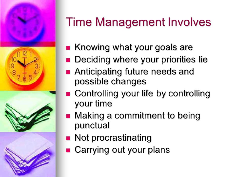 Tackle Time Wasters Many students dont say no to a request for their time.