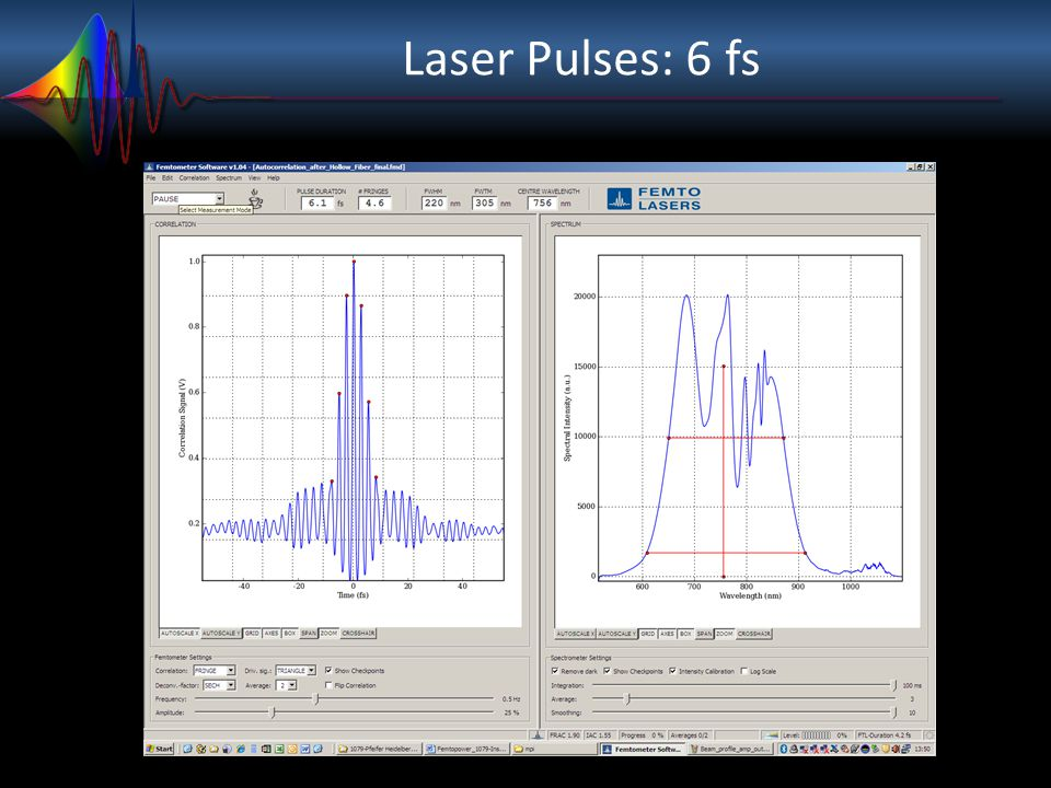Estimation of Quantum Time Scales LILI = ħ m p a 0 2 Molecular rotation frequency Molecular vibration frequency DmpDmp Electron vibration frequency DmeDme LILI = ħ m e a 0 2 Electron rotation frequency 1 2000 1 2000 1 50 1 T r =300 fs T v =7 fs T e =150 as