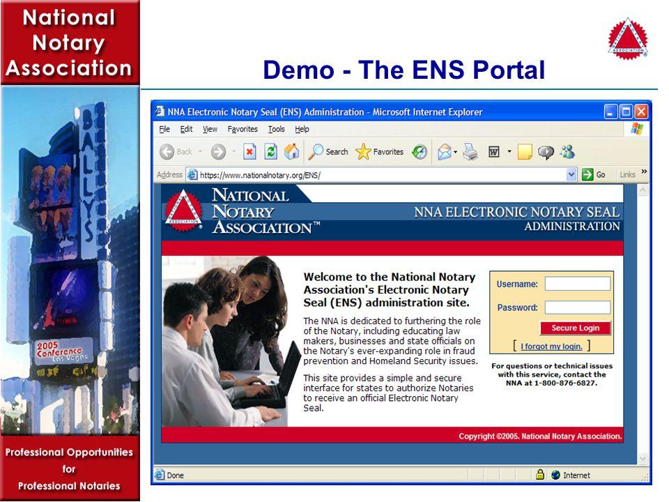 Demo - The ENS Portal