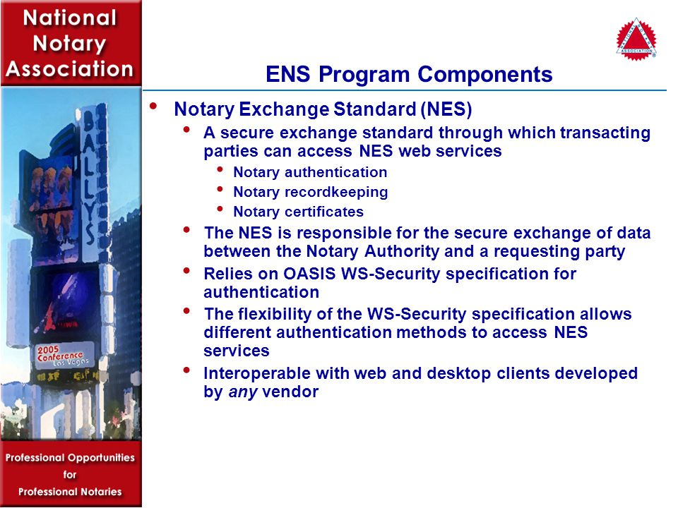 Notary Authority Vendor Web/Desktop Client Development Notary authentication AT NO COST to third parties.