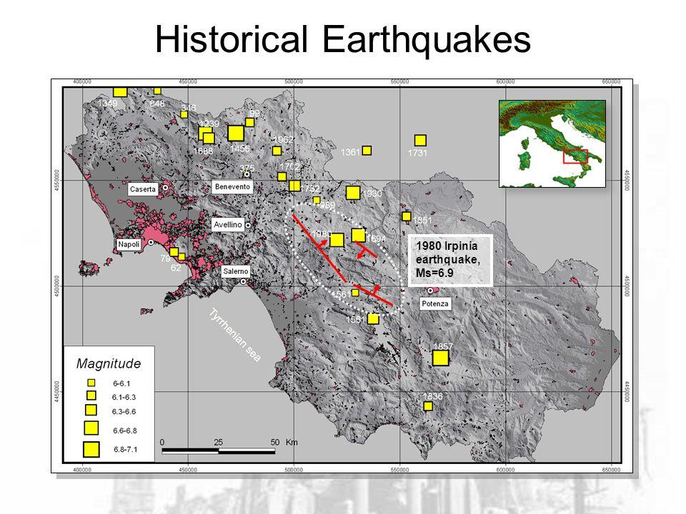 1980 Irpinia earthquake, Ms=6.9 Historical Earthquakes