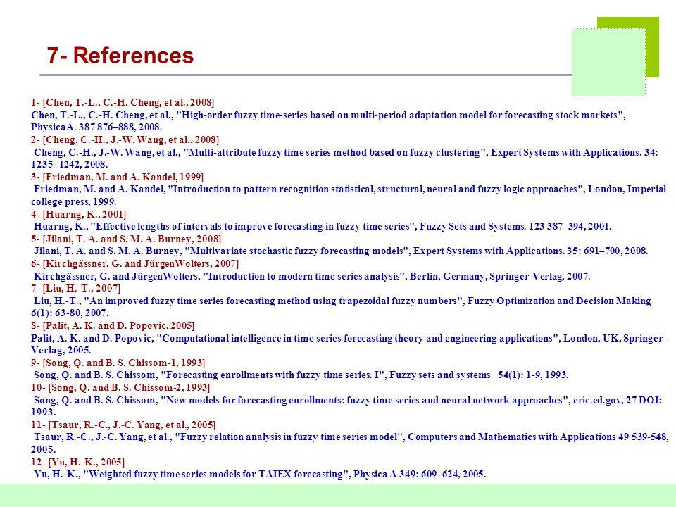 7- References 1- [Chen, T.-L., C.-H. Cheng, et al., 2008] Chen, T.-L., C.-H.