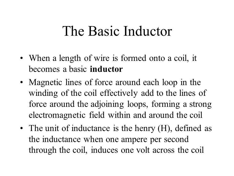 Energizing Current in an Inductor In a series RL circuit, the current will increase to approximately 63% of its full value in one time- constant ( ) interval after the switch is closed The current reaches its final value in approximately 5
