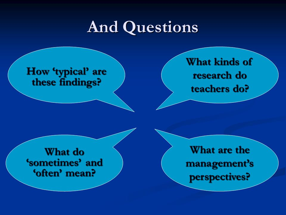 And Questions What are the managements perspectives.