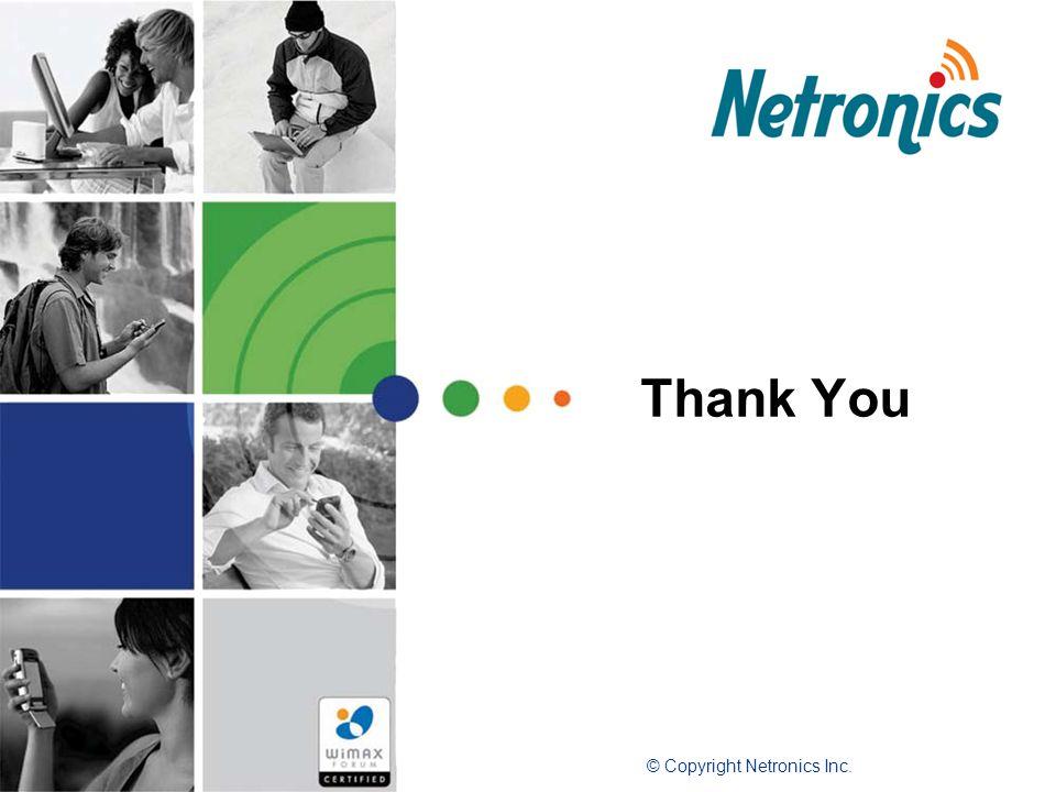 Thank You © Copyright Netronics Inc.