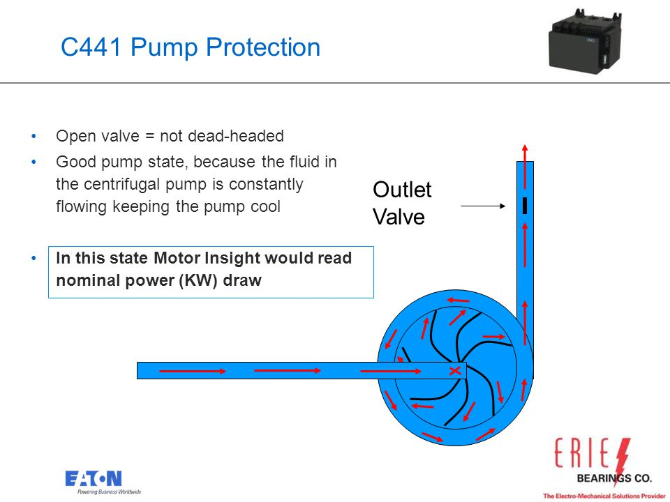 29 Open valve = not dead-headed Good pump state, because the fluid in the centrifugal pump is constantly flowing keeping the pump cool In this state M