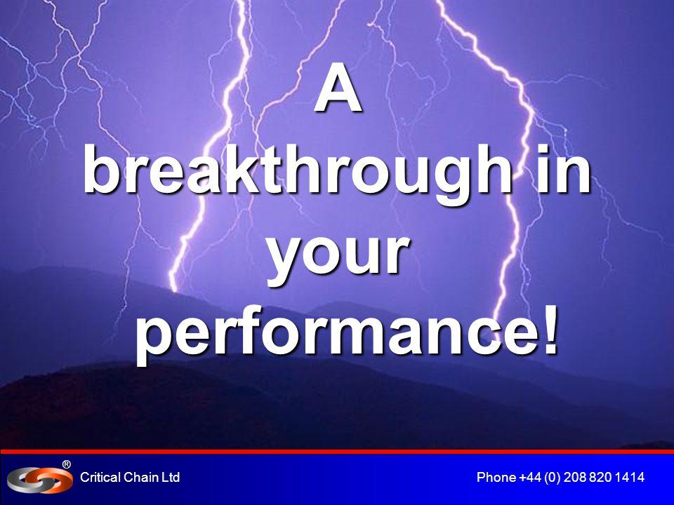 ® Critical Chain Ltd Phone +44 (0) 208 820 1414 Critical Chain Project Management.