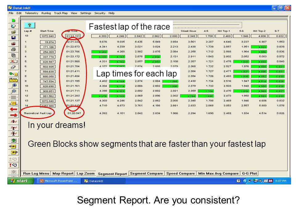 Segment Report.Are you consistent.