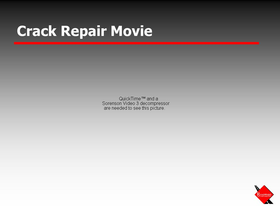 Crack Repair Movie
