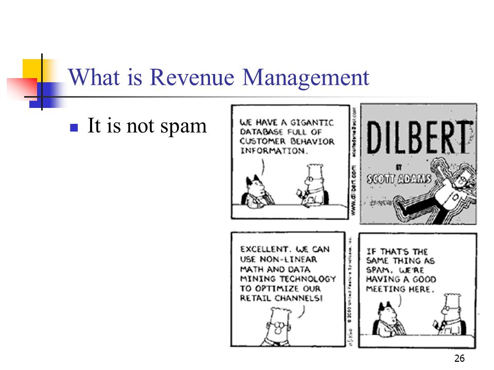26 What is Revenue Management It is not spam