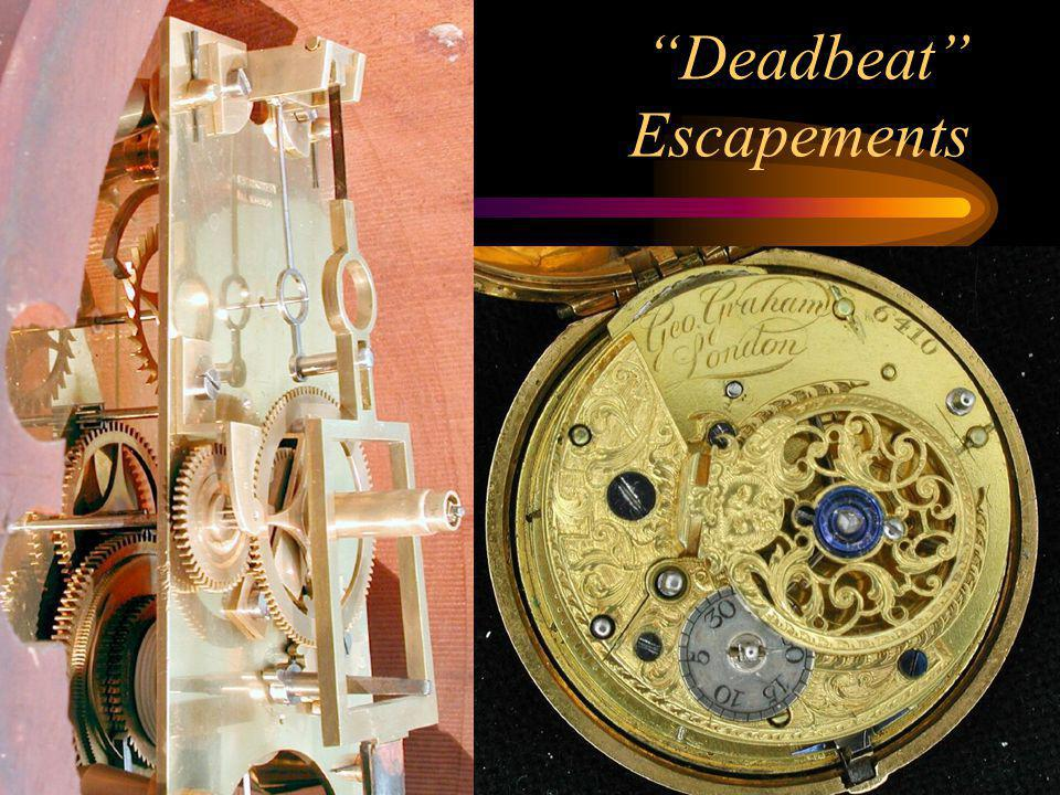 Deadbeat Escapements