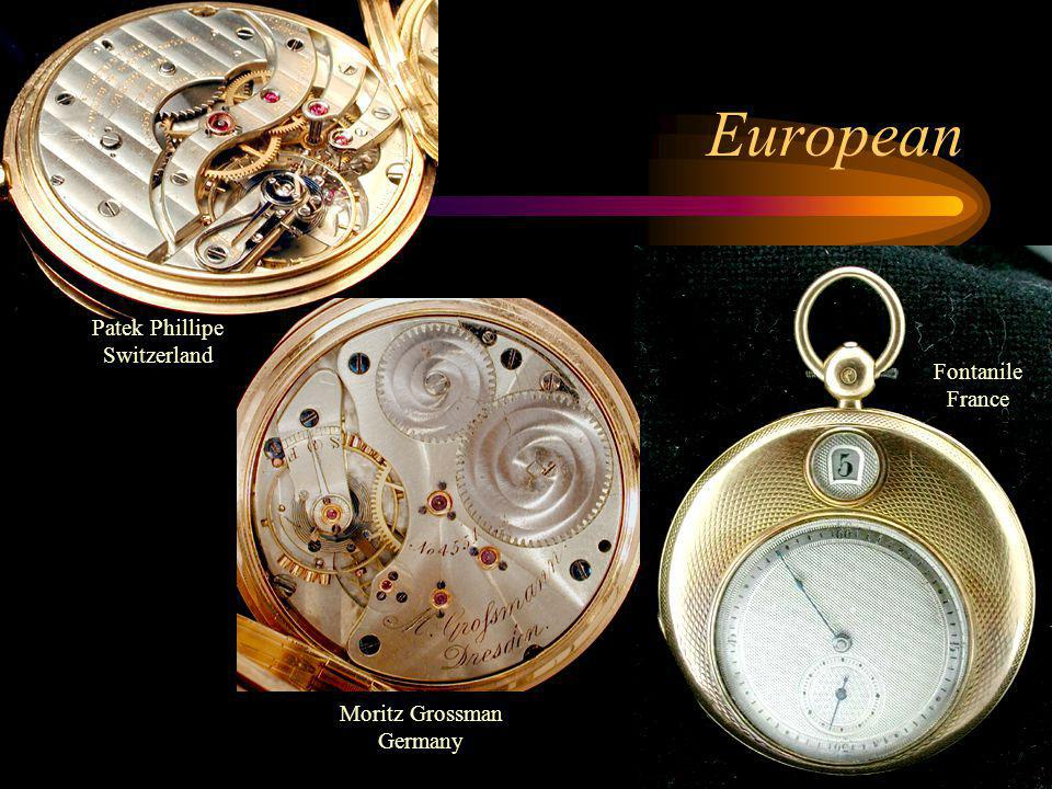 European Patek Phillipe Switzerland Fontanile France Moritz Grossman Germany