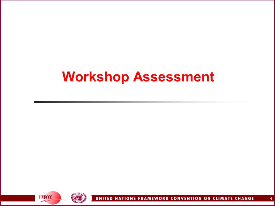 1 Workshop Assessment