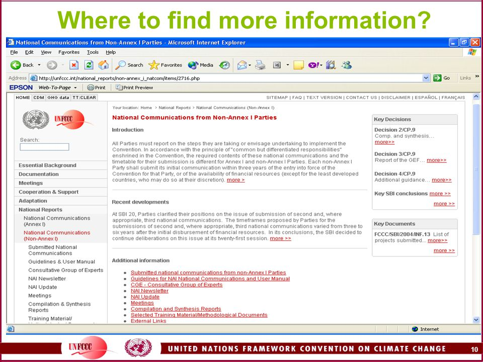 10 Where to find more information