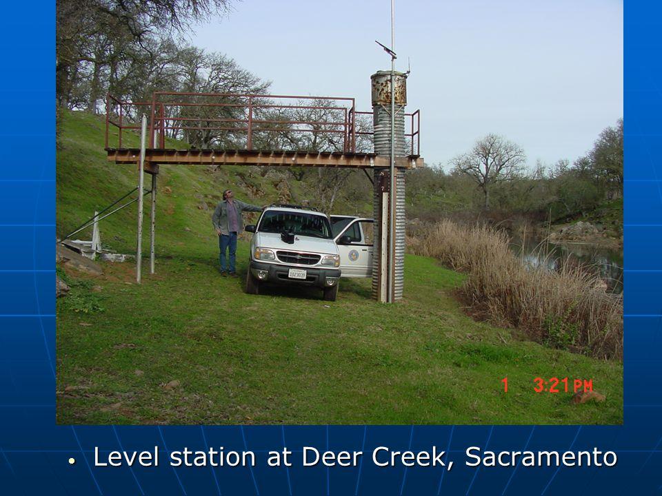 Level station at Deer Creek, Sacramento Level station at Deer Creek, Sacramento