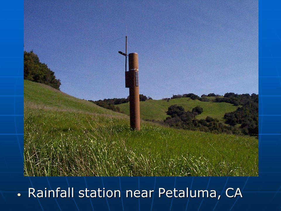 Rainfall station near Petaluma, CA Rainfall station near Petaluma, CA