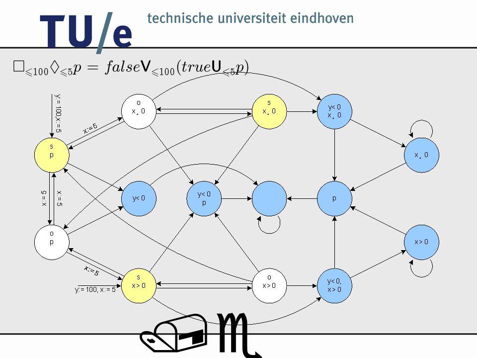 /e ¤ 6 100 § 6 5 p = false V 6 100 (true U 6 5 p)