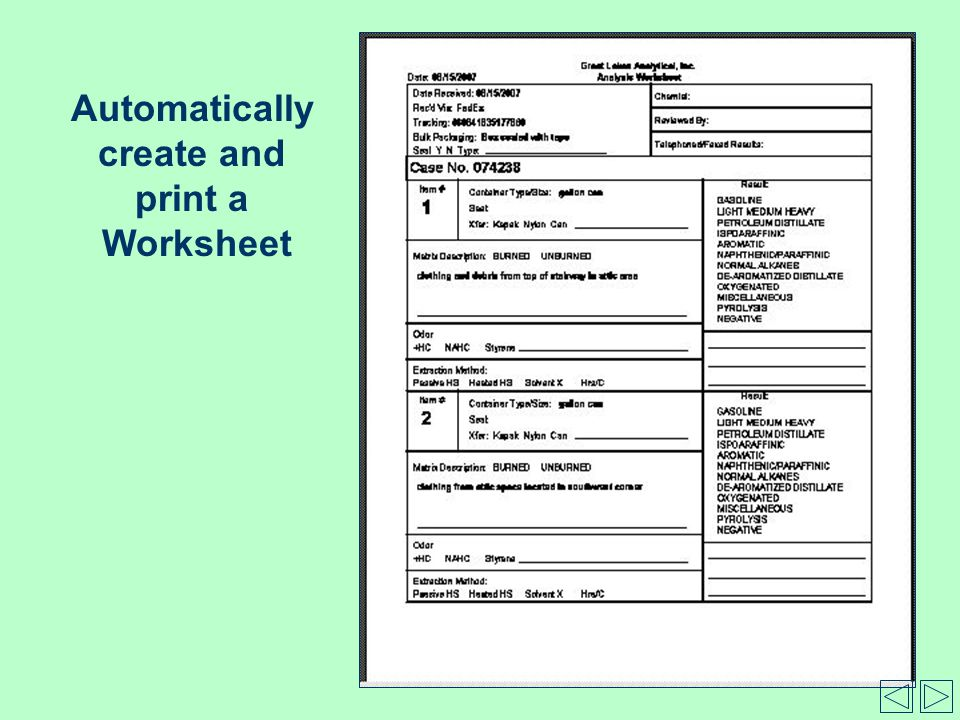 Automatically create and print a Worksheet