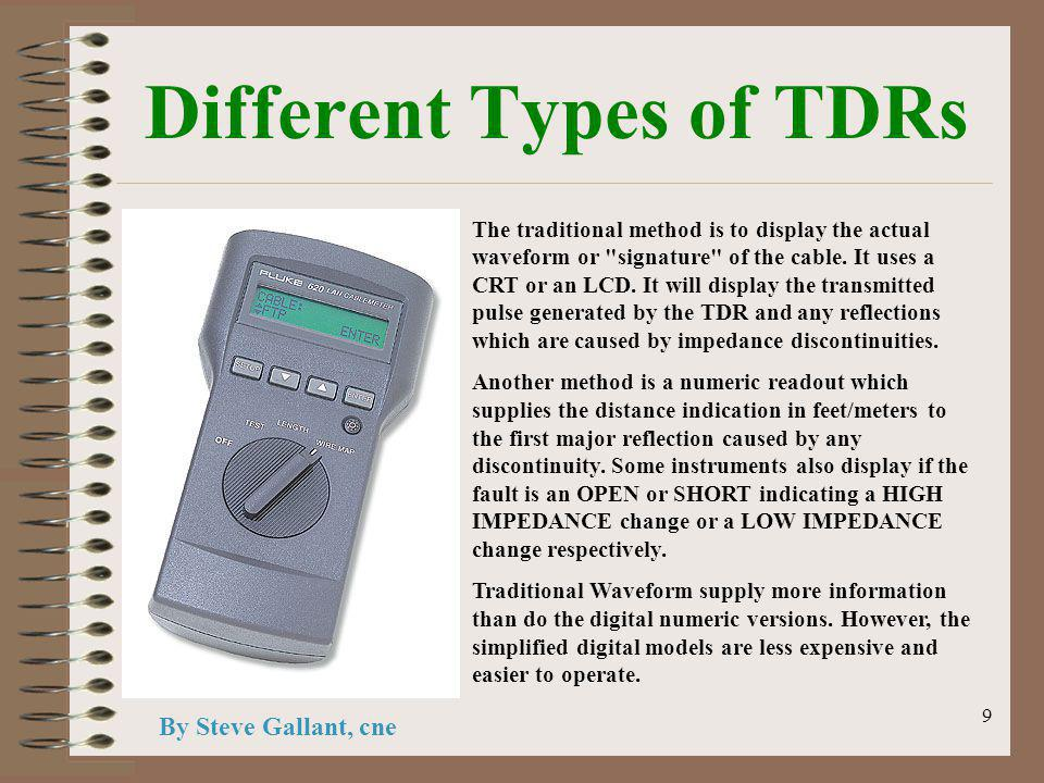 9 Different Types of TDRs The traditional method is to display the actual waveform or