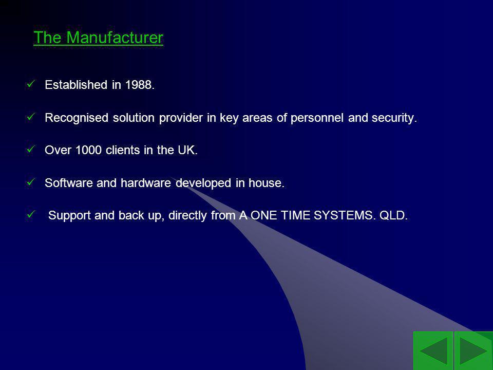 The Manufacturer Established in 1988.