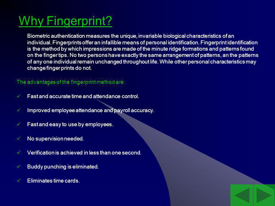 Why Fingerprint.