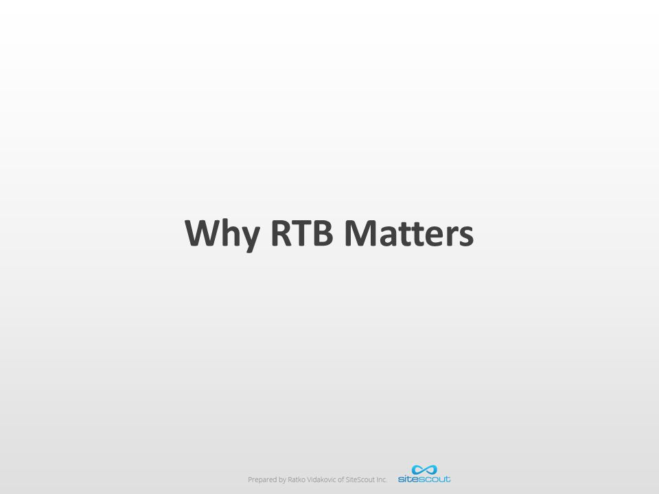 Why RTB Matters