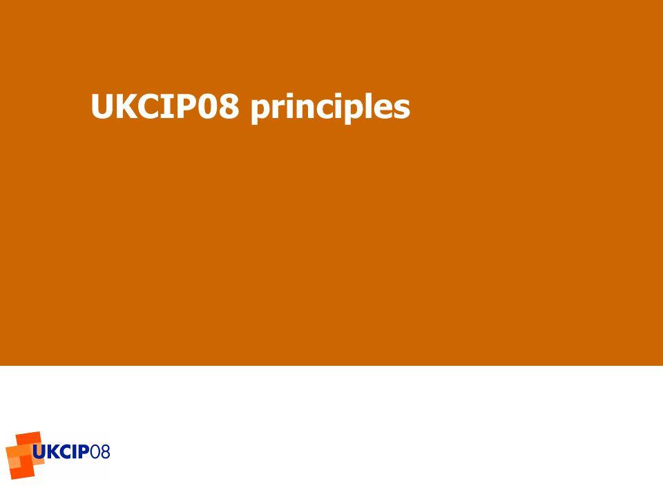 © UKCIP 2006 UKCIP08 principles