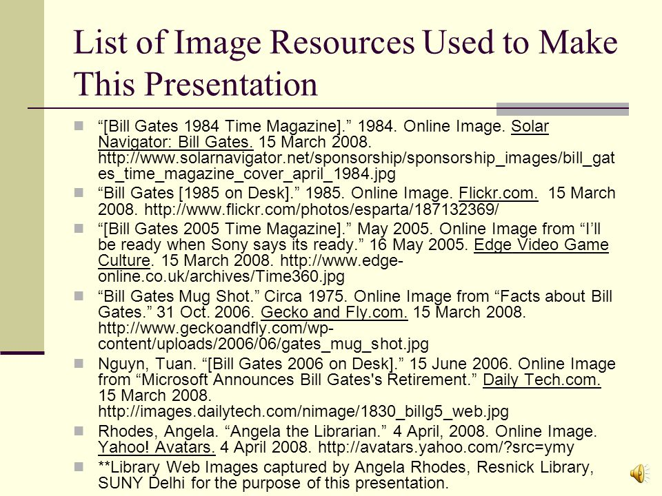 Example: Time and Bill Gates In the database, perform an advanced search for Bill Gates in key terms and limit by the Journal Title Time Results will show all articles in Time that relate to Bill Gates.
