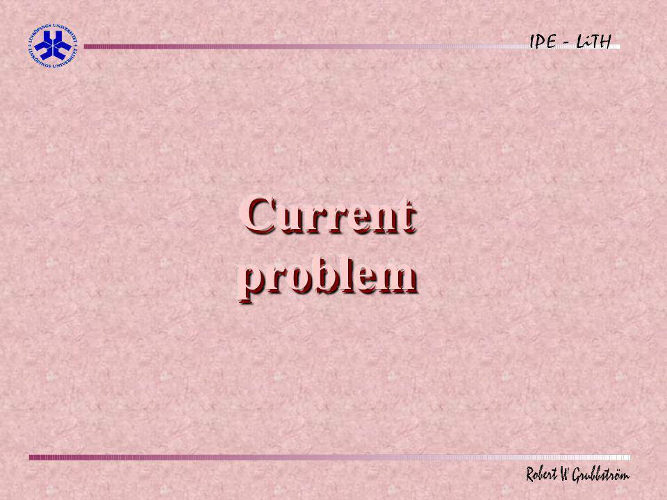 Current problem
