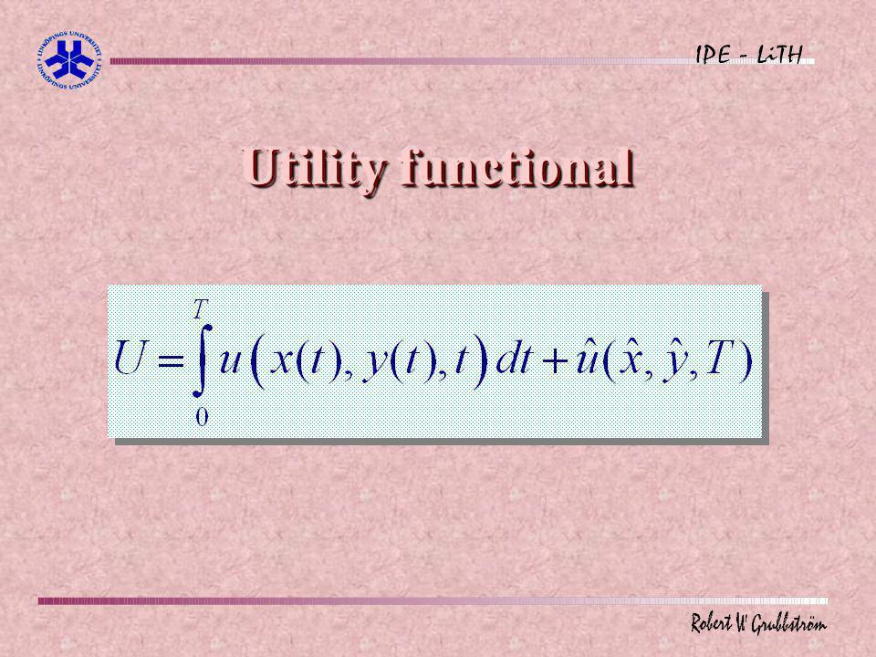 Utility functional