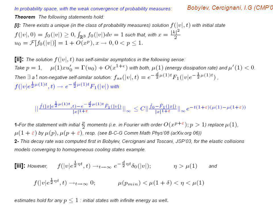 Bobylev, Cercignani, I.G (CMP08)